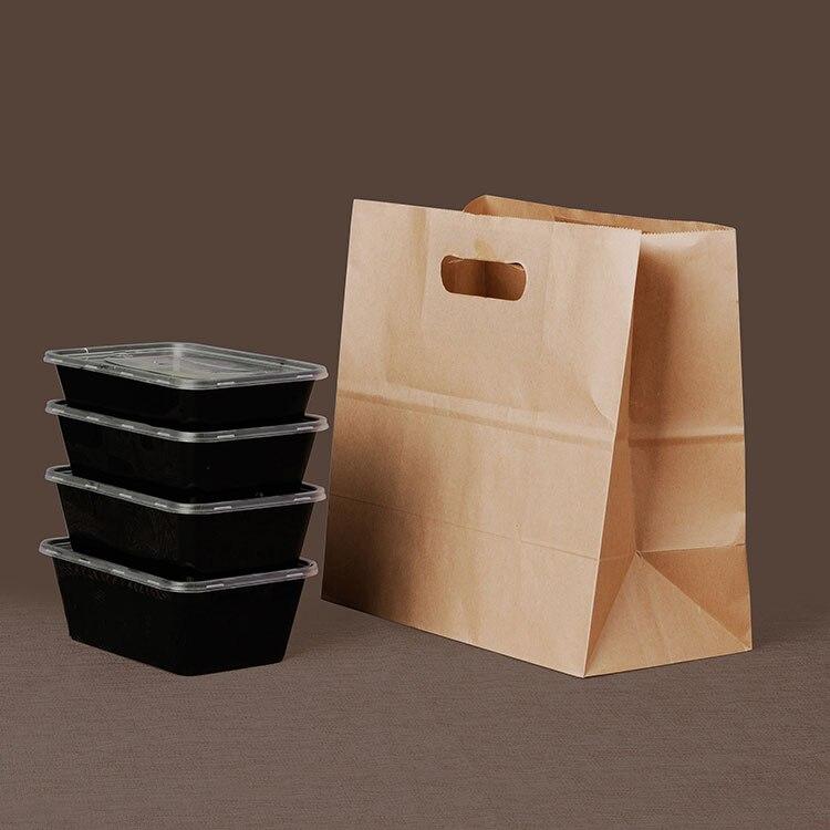 Sac de papier de nourriture de 50 pcs, pain, boîte de casse-croûte douce de fruit sacs d'emballage sac à emporter sac à main