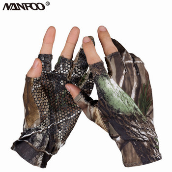 Fingerless Hunting Camo elastyczne rękawiczki letnie rękawice wędkarskie wodoodporne antypoślizgowe Breatahble rękawice kamuflażowe wygodne rękawiczki tanie i dobre opinie NANFOO Pasuje prawda na wymiar weź swój normalny rozmiar Lycra SF-02 Hunting Camo Gloves Camouflage Each gloves is not same