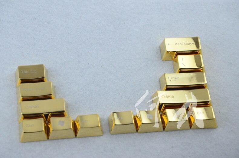 Keyboard-Caps Mechanical-Keys Keycap Modifier Metal Gold Cherry Mx 37-Keys Aluminum LOL