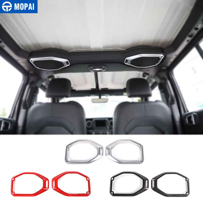 MOPAI Interior Mouldings for Jeep Wrangler JL 2018 Car Roof Speaker Ring Decoration Sticker for Jeep JL Wrangler Accessories siku внедорожник jeep wrangler с прицепом для перевозки лошадей