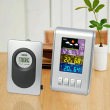 Wholesale JIMEI H103G-color Color intelligent household multifunctional electronic  Indoor Outdoor thermometer hygrometer Weather Clock