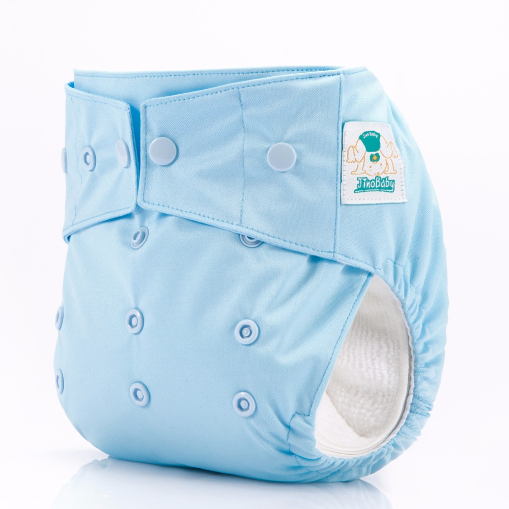 JinoBaby AIO One Size Reusable Diapers Keep Dry Diaper Pants - Cute Blue