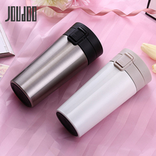 JOUDOO 380ml Car Thermos Mug With Filter Double Wall Stainless Steel Vacuum Flasks Coffee Tea Travel Thermol Bottle 35