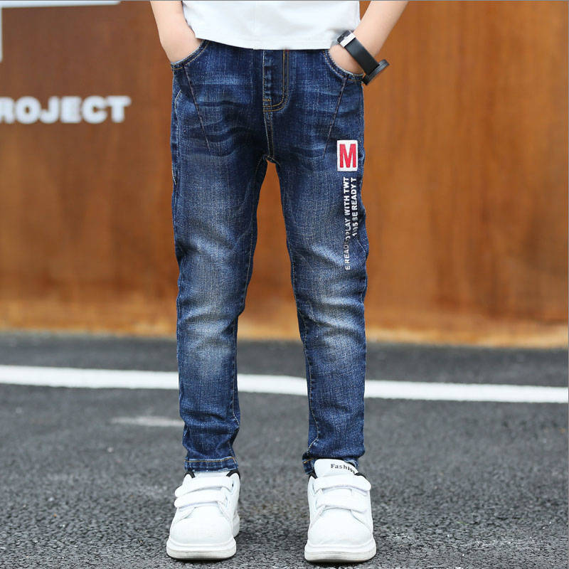 HTB1z6DMaLfsK1RjSszbq6AqBXXaA - Autumn Spring Baby Boys Jeans Pants Kids Clothes Cotton Casual Children Trousers Teenager Denim Boys Clothes 4-14Year