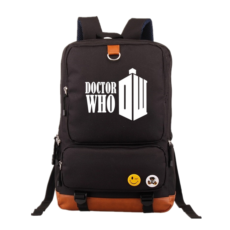 Doctor who Large Capacity Backpack Stylish Travel School bags Male Luggage Shoulder Bag Computer Backpacking Functional Bags футболка рингер printio доктор кто doctor who