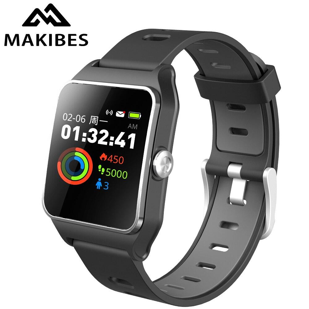 1 année Garantie Makibes BR3 GPS 17 sortes sport montre connectée Hommes IP68 Étanche Bluetooth Strava Fitness bracelet podomètre Cadeau