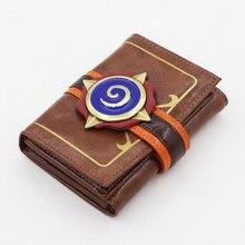 Msmo em relevo couro hearthstone heróis de warcraft cartão carteira pacote novo presente
