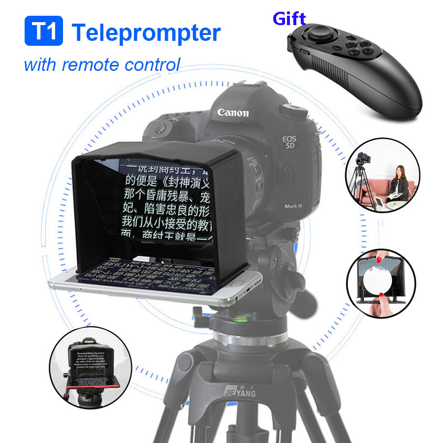 Bestview high definition smartphone Teleprompter Video DSLR for Canon Nikon Sony Camera Youtube Photo Studio Interview