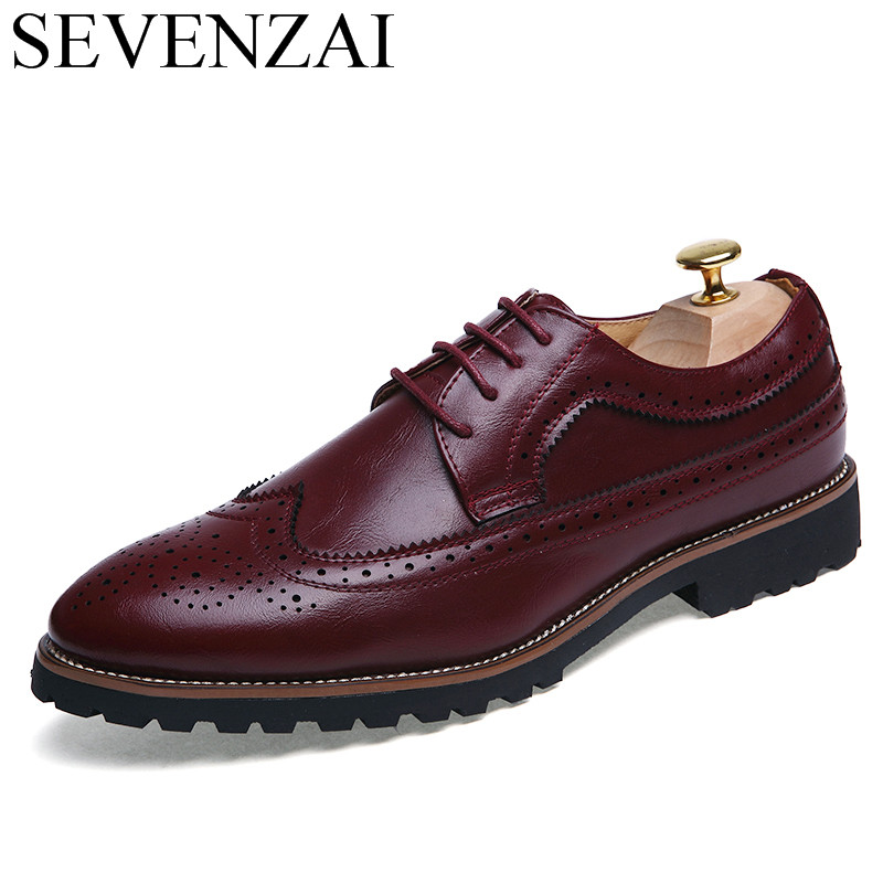 italian elegant men shoes luxury brand formal pointed toe male footwear leather ballet flats fashion brogue oxford shoes for men brand designer caving men flats outer soles metallic toe leather shoes fashion pointed toe oxford ancient style men shoes