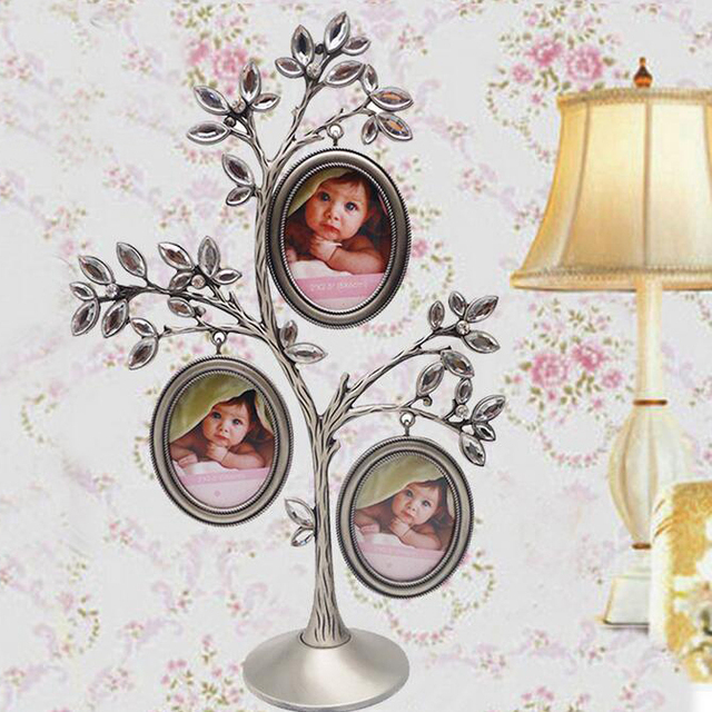 Wedding Gift For Friends Child : family tree metal Photo Frame wedding gift newborn baby birthday gift ...