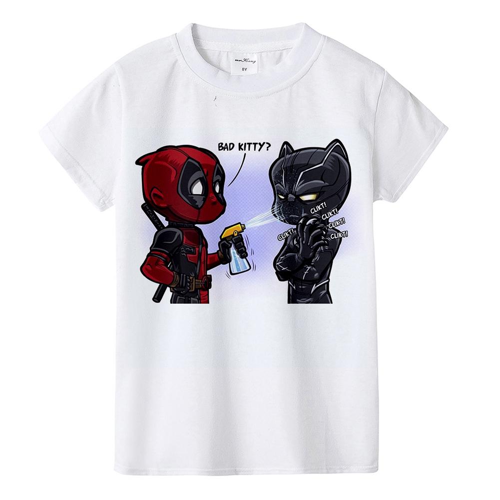 Black Panther Kids T Shirt Cartoon Anime Boys Girls Toddler Summer