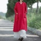 Women Long Maxi Dress Plus Size Long Sleeve Turndown Collar Button Long Oversize Women Dresses Casual Veatidos