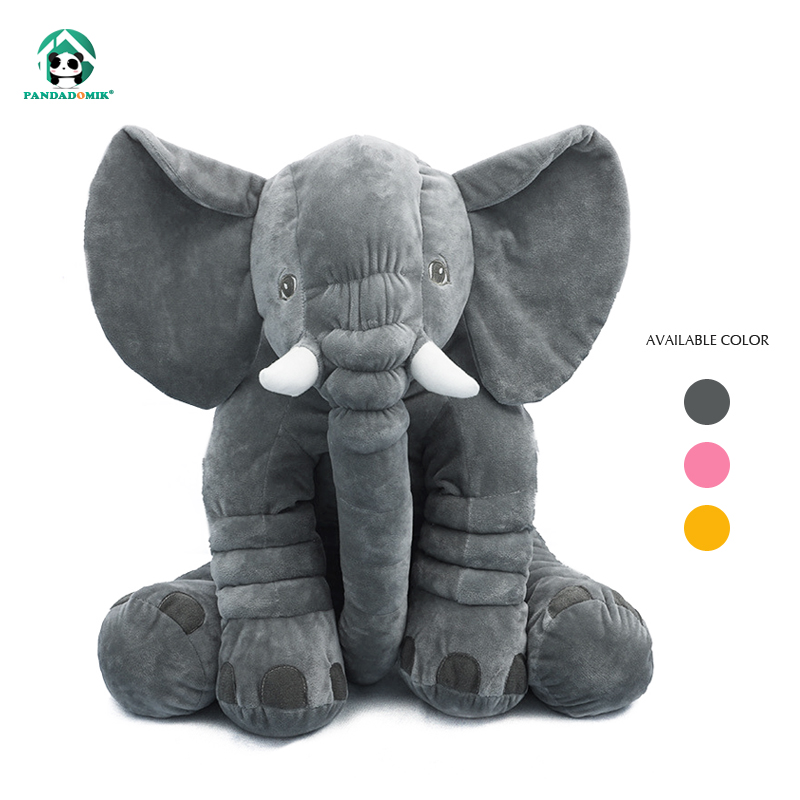 Pandadomik Elephant Cartoon Plush Doll with Blanket Stuffed Soft Toys Multifunctional Baby Pillow Cushion Toy for Children Gift 23cm cute plush grey elephant toys dolls baby sleeping back pillow cushion soft stuffed elephant plush toys kids gift