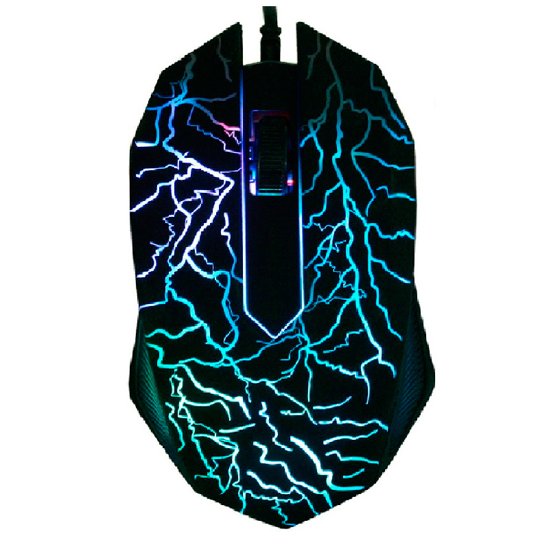 3200DPI LED Optical 3 Buttons 3D USB Wired Gaming Game Mouse Pro Gamer Computer Mice For PC Adjustable USB Wired Gaming Mouse et t6 wired gaming mouse black