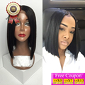 Grade 7A 150%Density Silky Straight Short Human Hair Bob Wigs Lace Front Human Hair Wig Full Lace Human Hair Wig For Black Women