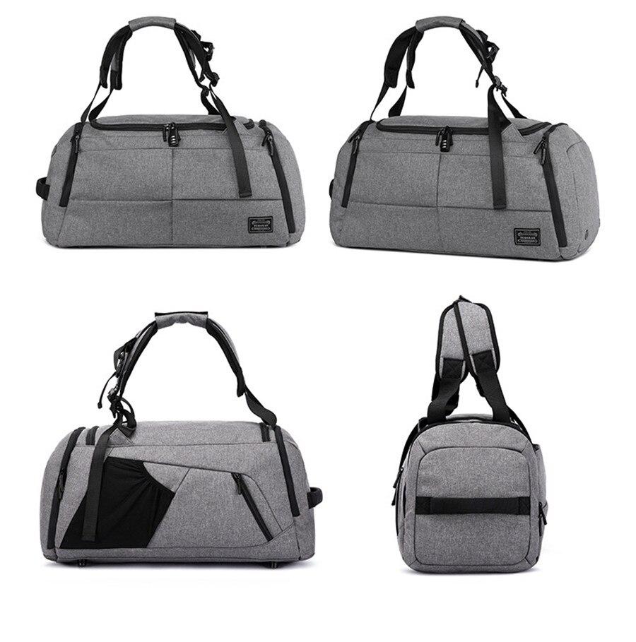 Hot Men Multi-function Sports Gym Bag Large Capacity Travel Handbag Male Outdoor Basketball Training Crossbody Shoulder Bag