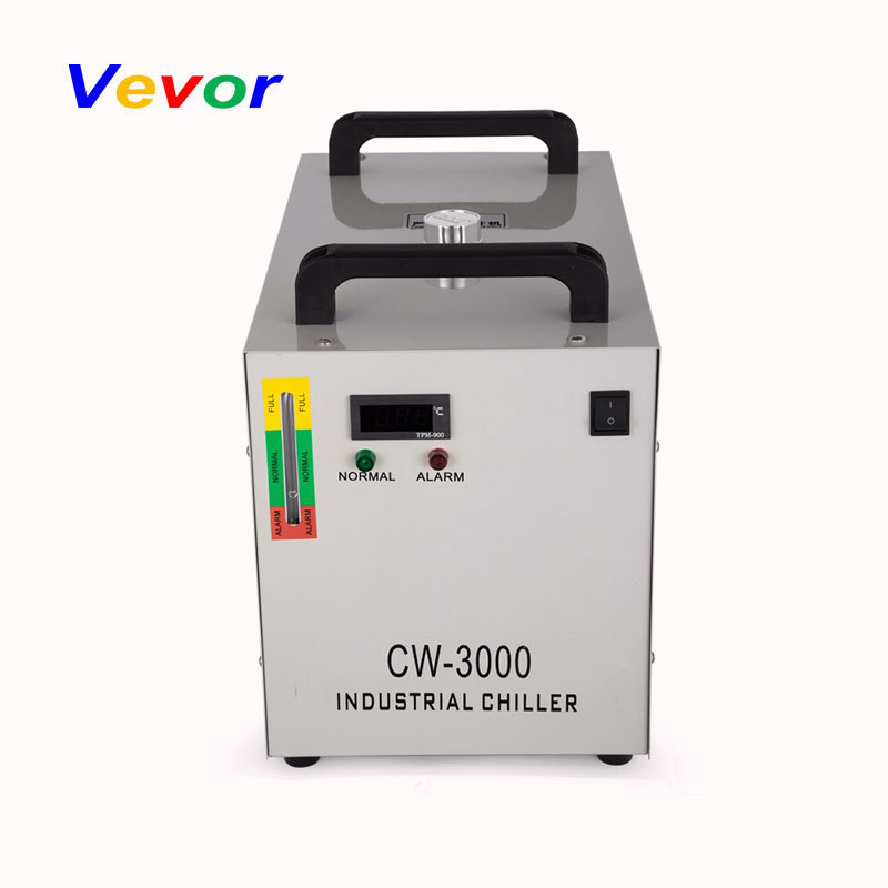 VEVOR Advanced Thermolysis Cooling System CW-3000 Thermolysis Industrial Water Cooler Chiller for Glass Laser Tube