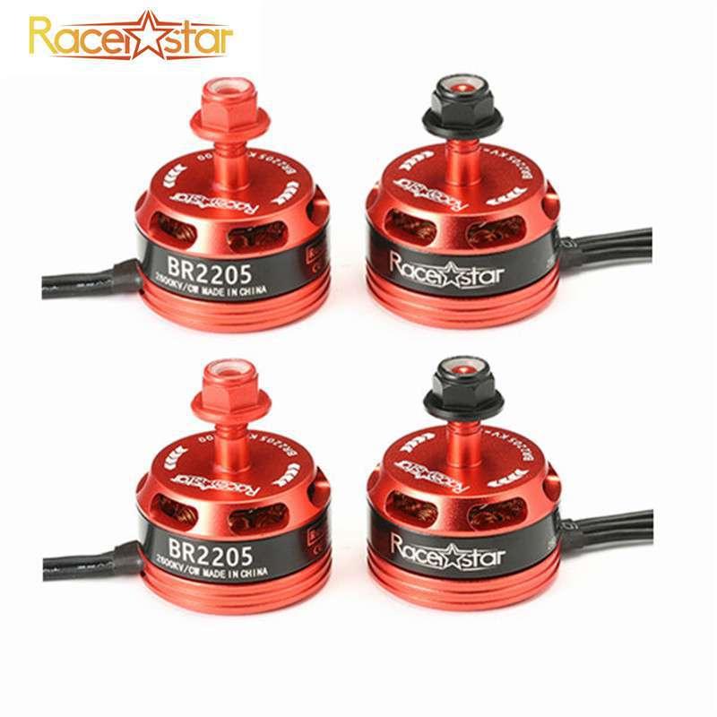 4pcs Racerstar Corrida Edição 2205 BR2205 2600KV 2-4S Motor Brushless CW/CCW Para QAV250 ZMR250 260 280 RC Acessórios Modelo