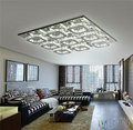 Luxury Large Modern Ceiling Light K9 Crystal square Art Luminaire Decoration Luster new  Designer Ceiling lampadario 9 lamp luz