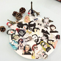 1 PCS Character Portrait Badge Series 2 Acrylic Pin Badges Backpack Icons Decoration Pins