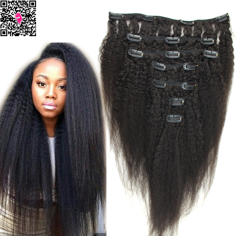 Cheap Virgin Kinky Coarse Yaki Clip In Hair Extensions Mongolian Afro Straigtht Italian Human On Aliexpress