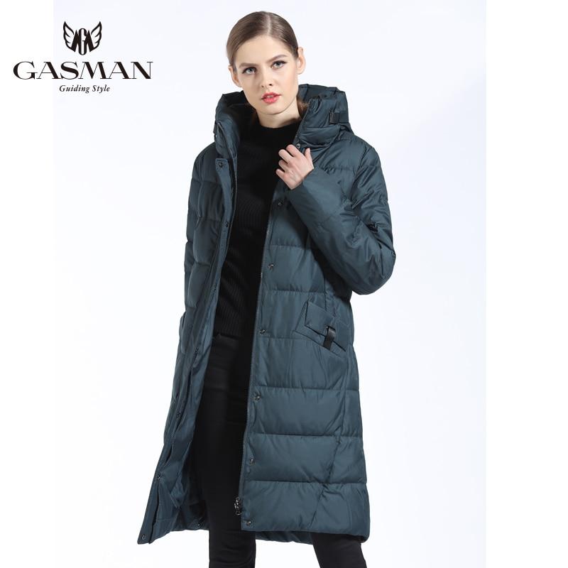 GASMAN 2018 Mode Femme Veste D'hiver Vers Le Bas Femelle À Capuchon Vers Le Bas Parka Longue Pour manteau femmes D'hiver Épaississement grande taille 5XL 6XL - 5
