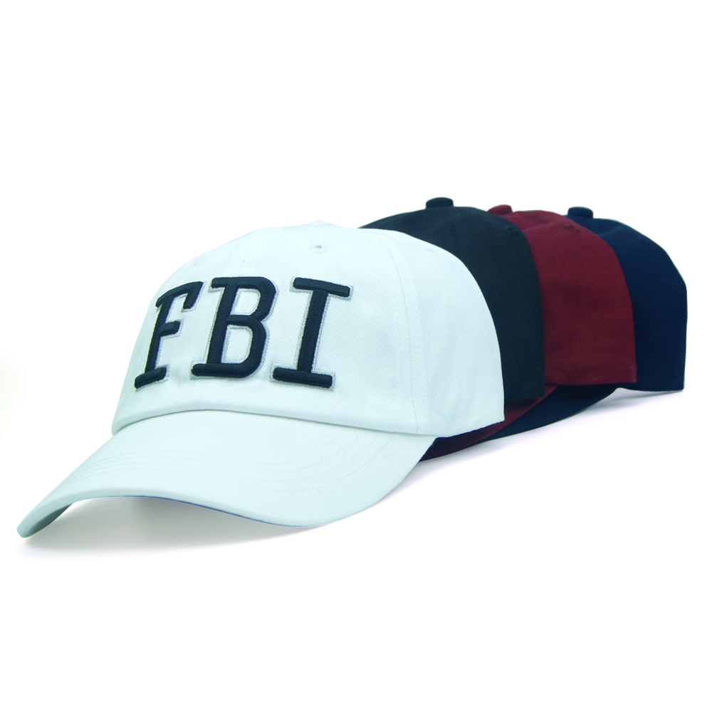 Unisex Adult Hip Hop Baseball Caps Cotton Snapback Cap Adjustable Casquette Solid Color Men Women Cool Hat With FBI Letter 1 Pcs miaoxi fashion women summer baseball cap hip hop casual men adult hat hip hop beauty female caps unisex hats bone bs 008