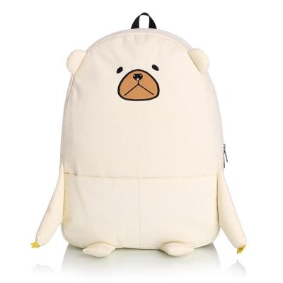 Leisure school wind students bag cute bear Korean version of the shoulder bag new wave of