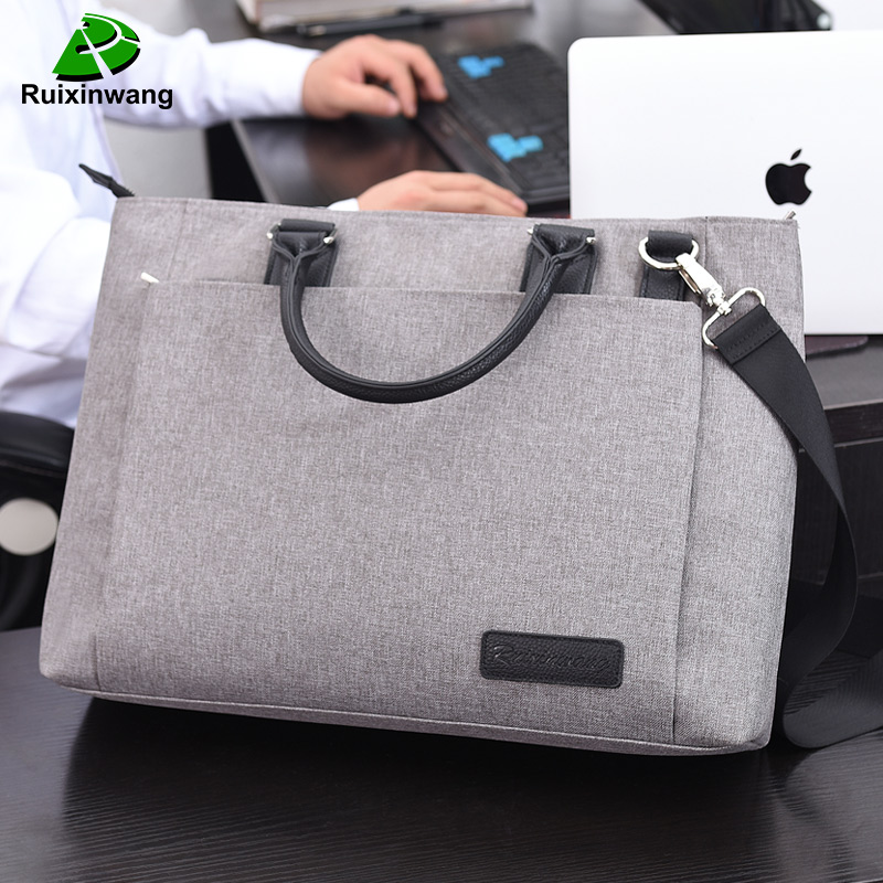 RUIXINWANG High Quality And Simplicity Business Bags Men Briefcase Laptop Bag File Package Nylon Women Office Handbag Work Bags