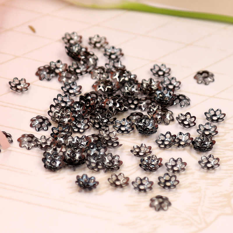 100 pz/lotto Formato 6 8 millimetri di Risultati Dei Monili Del Distanziatore Del Fiore Bead Caps Beads Accessori FAI DA TE per la Collana Del Braccialetto Orecchini Che Fanno