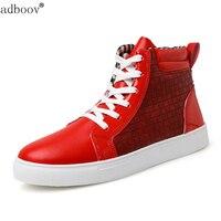 Man Plus Size Euro 45 46 Skate Poping Boots Student Fashion Hip Hop Flats Big Size