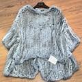 2016 100% Genuine Rabbit Fur Knitted Coat,  Real Rabbit Fur Jacket Free Shipping SU-16026
