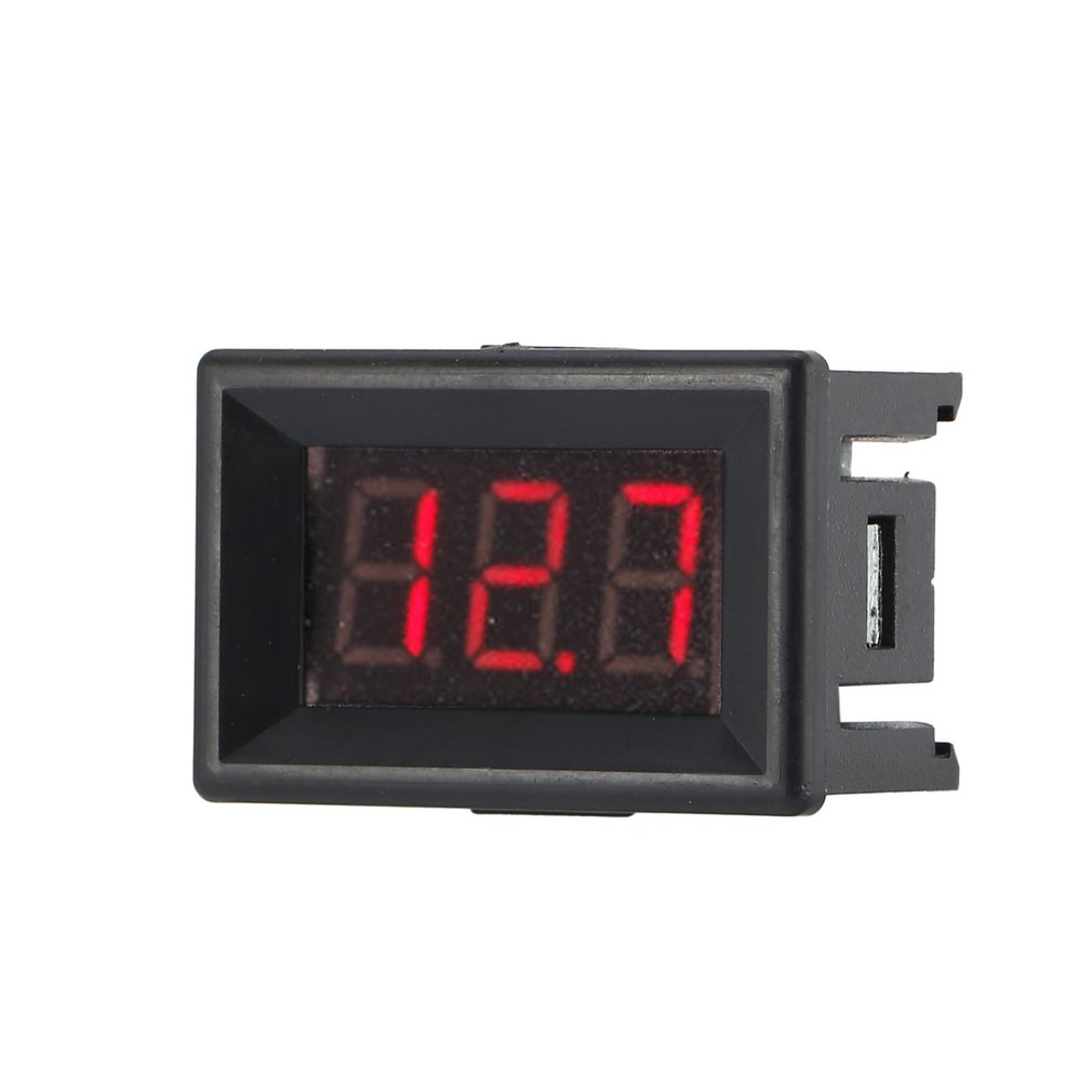3 Wire LED Digital Voltage Meter 0-100V <font><b>0.36in</b></font> Panel Voltmeter Electric Voltage Meter Volt Tester For Auto Battery Motorcycle image