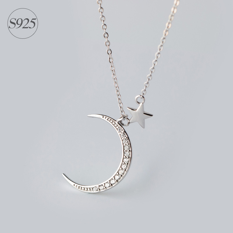 Real. Solid 925 Sterling Silver jewelry Crescent Moon