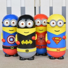 280ML Black Red Blue Yellow Minions Stainless Steel Vacuum Cup Thermo Water Bottle