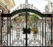 Henchuang Wrought Iron Gate Forged Iron Gates Villa Wrought Iron Gates Steel Metal Iron Copper Gates