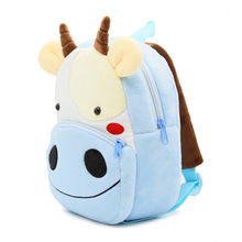Lovely Cow Shaped Soft Plush Toddler's Backpack