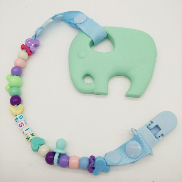 Elephant Teether with Clip