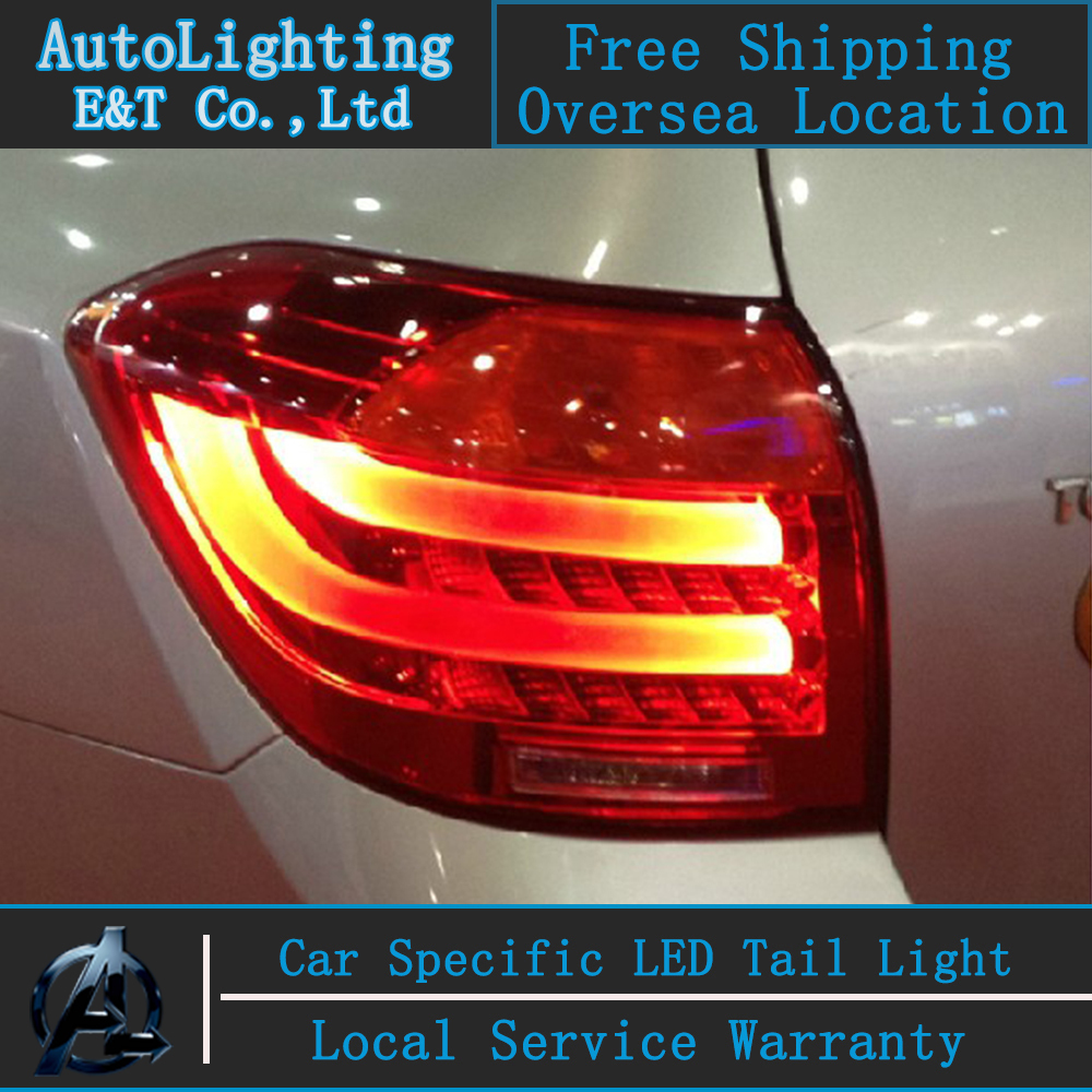 Car Styling LED Tail Lamp for Toyota Highlander tail lights 2009-2011 rear trunk lamp cover drl+signal+brake+reverse car styling tail lights for toyota corolla 2011 2013 taillights led tail lamp rear trunk lamp cover drl signal brake reverse