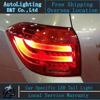 Car Styling LED Tail Lamp For Toyota Highlander Tail Lights 2009 2011 Rear Trunk Lamp Cover