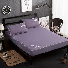 Простыня для матраса, одноцветная, приятная для кожи, простыня из хлопка, простыня для кровати с эластичной лентой, двойная простыня для кровати размера queen