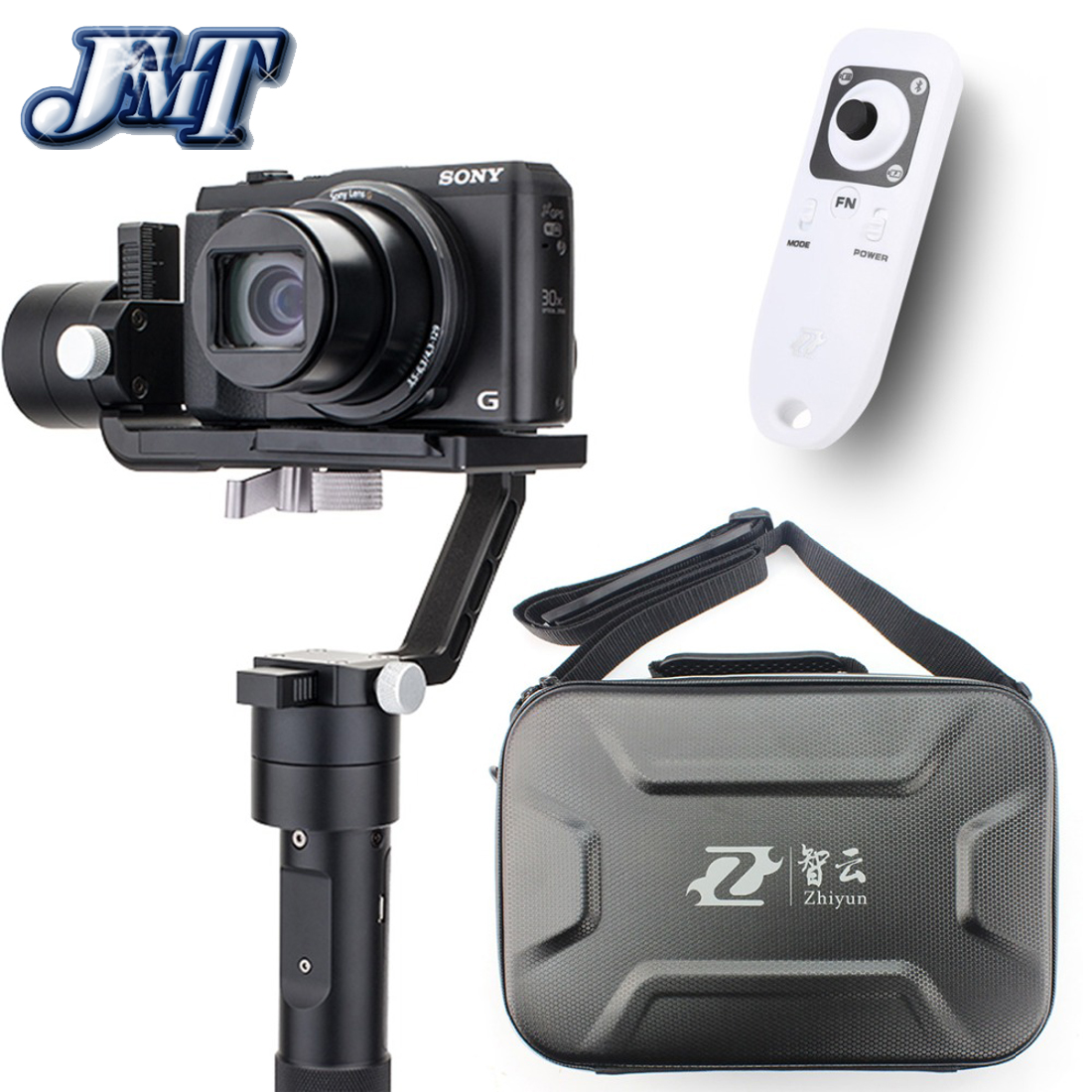 Zhiyun Crane M 3-Axle Handheld Stabilizer Gimbal + Remote Controller B01 +Carry Case for Gopro Camera 125g-650g Smartphone