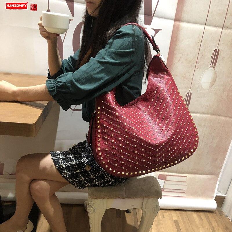 Bagaj ve Çantalar'ten Omuz Çantaları'de Taklidi çanta kadın 2019 yeni kadın elmas kaplı bayan çanta büyük kapasiteli matkap omuz messenger moda çantalar'da  Grup 1
