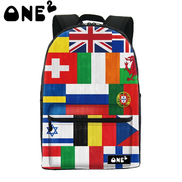 Buy one get one free 2016 ONE2 Design european countries national flag  eminent custom best popular brands school bag backpack 73fd86a8e7f10