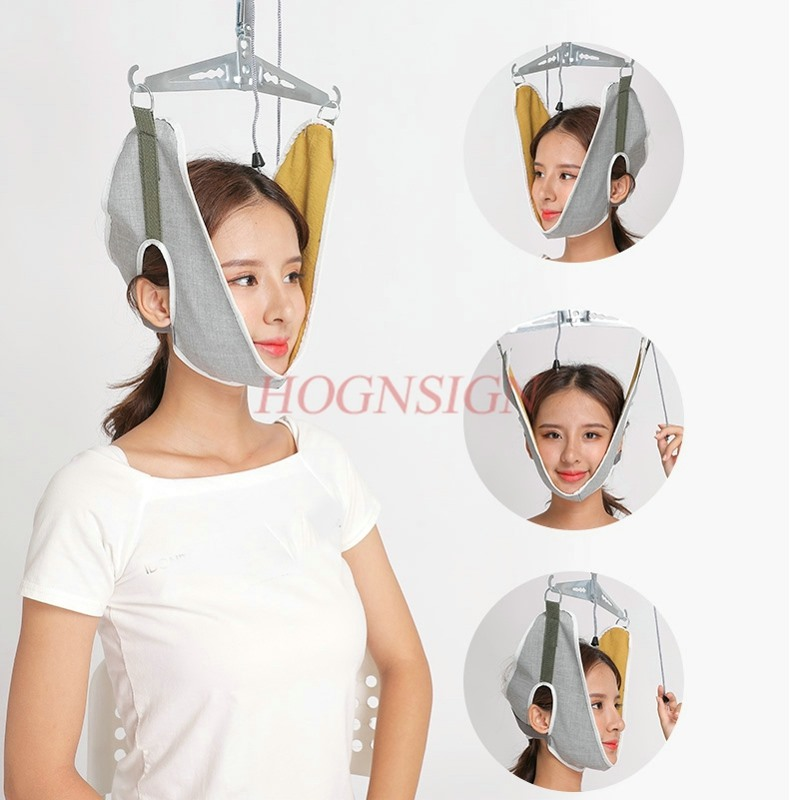 Cervical traction device home stretching medical hanging cervical spondylosis neck treatment device neck orthosis traction frame(China)