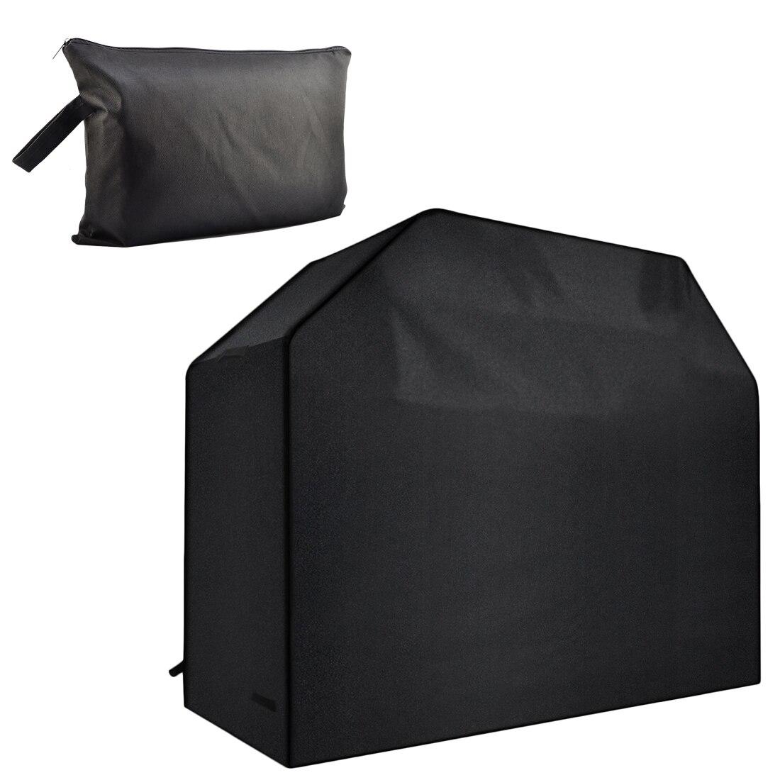 E-SHOW 600D Panno di Oxford Impermeabile Barbecue Copertura Casa Outdoor Antipolvere UV di Protezione Barbecue Grill Protector-Nero