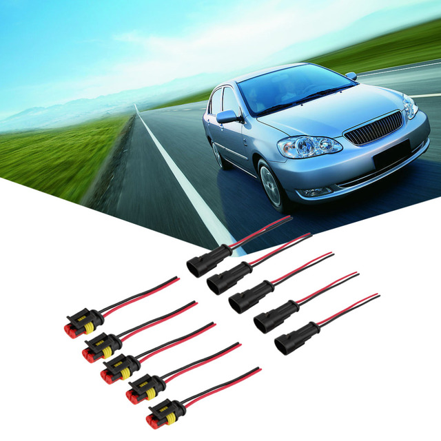 New arrival 5 Kit 2 Pin Way Car Waterproof Electrical Connector Plug with Wire AWG Marine hot selling