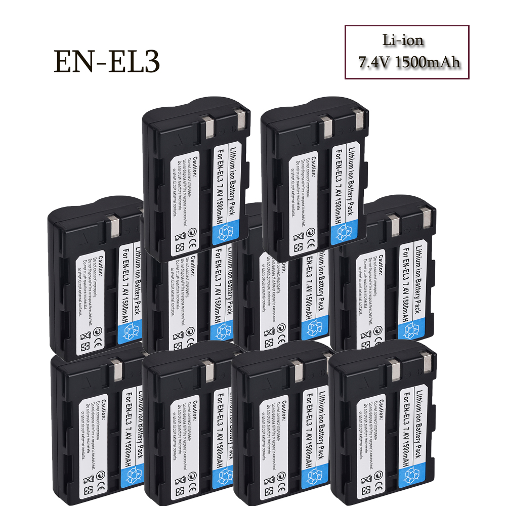 Wholesale High Quality 7.4V 1500mAh EN-EL3EL3A Camera Battery For NIKON DSLR D50, DSLR D70, DSLR D70s, DSLR D100