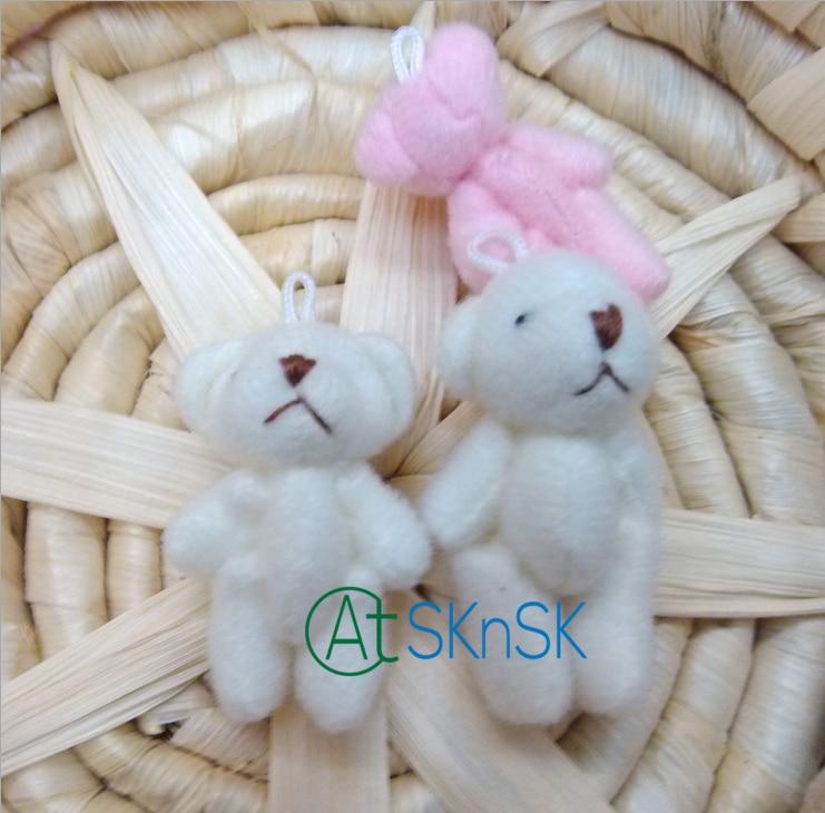 100pcs lot free shipping 4cm 6cm tall Tinny teddy bear doll for cellphone bag keychain Promotional