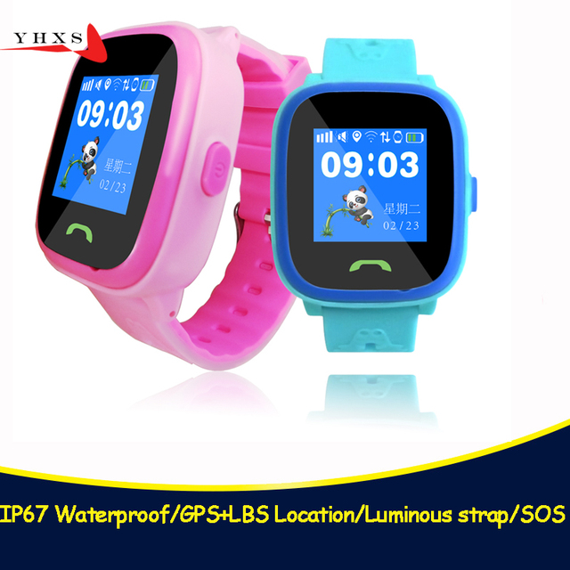 IP67 Waterproof Children GPS Swim Phone Smart SOS Call Location Device Tracker Kids Safe Anti-Lost Remote Monitor Watch PK Q750S
